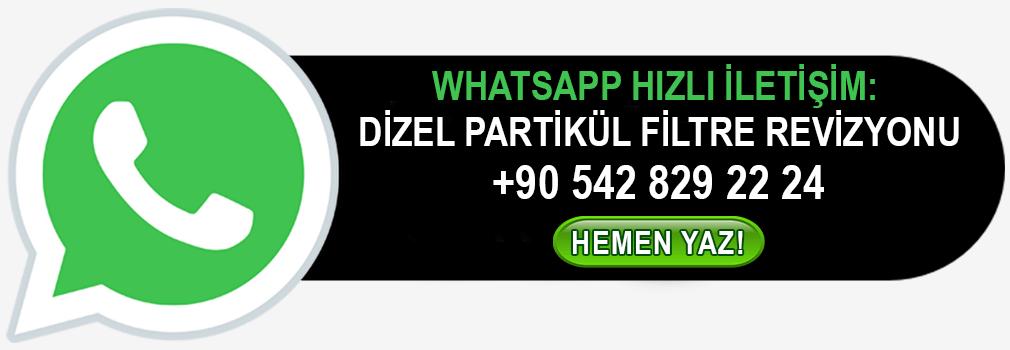 WhatsApp Dizel Partikül Filtre DPF Revizyonu