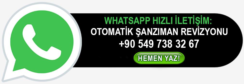 WhatsApp Otomatik Şanzıman Revizyonu